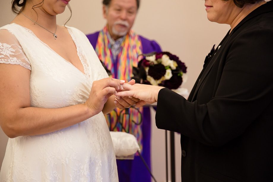 Ring exchange at the county chapel