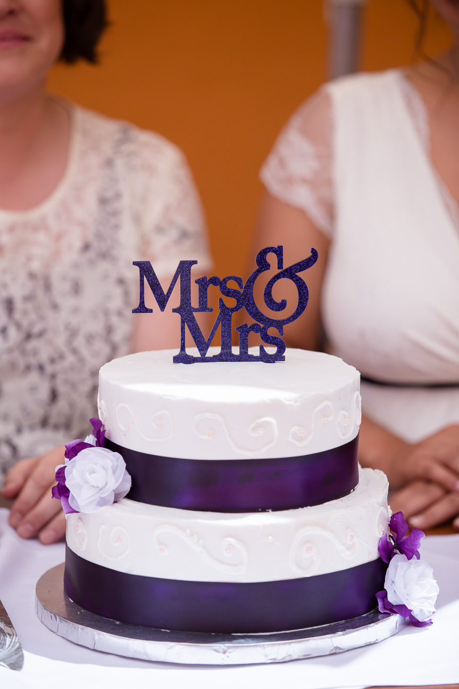 Cute Mrs and Mrs cake topper for the beautiful lesbian wedding!