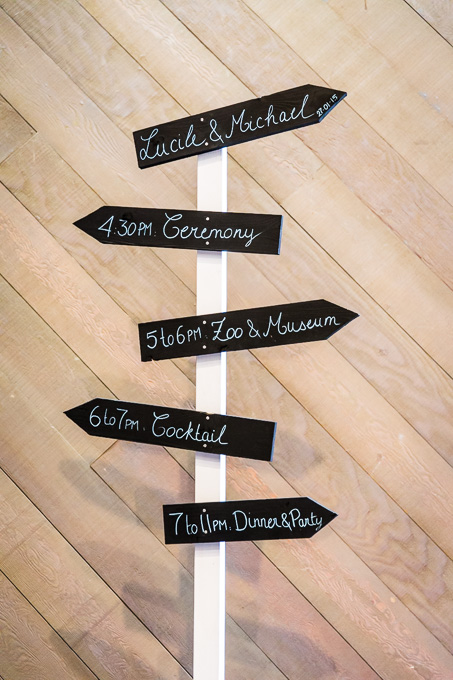 DIY wedding sign - directional sign and program 2 in 1