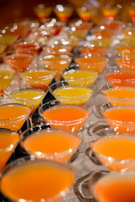 yellow and orange wedding cocktail