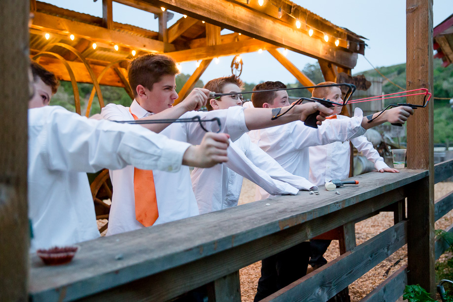 long branch farm provides entertainment for wedding guests