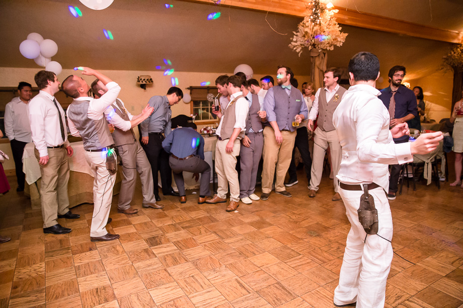 funny garter toss - it went straight to the ground