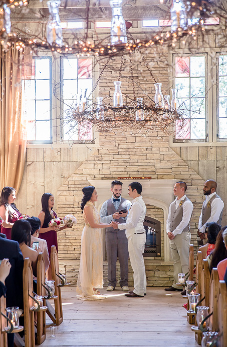 romantic chapel ceremony