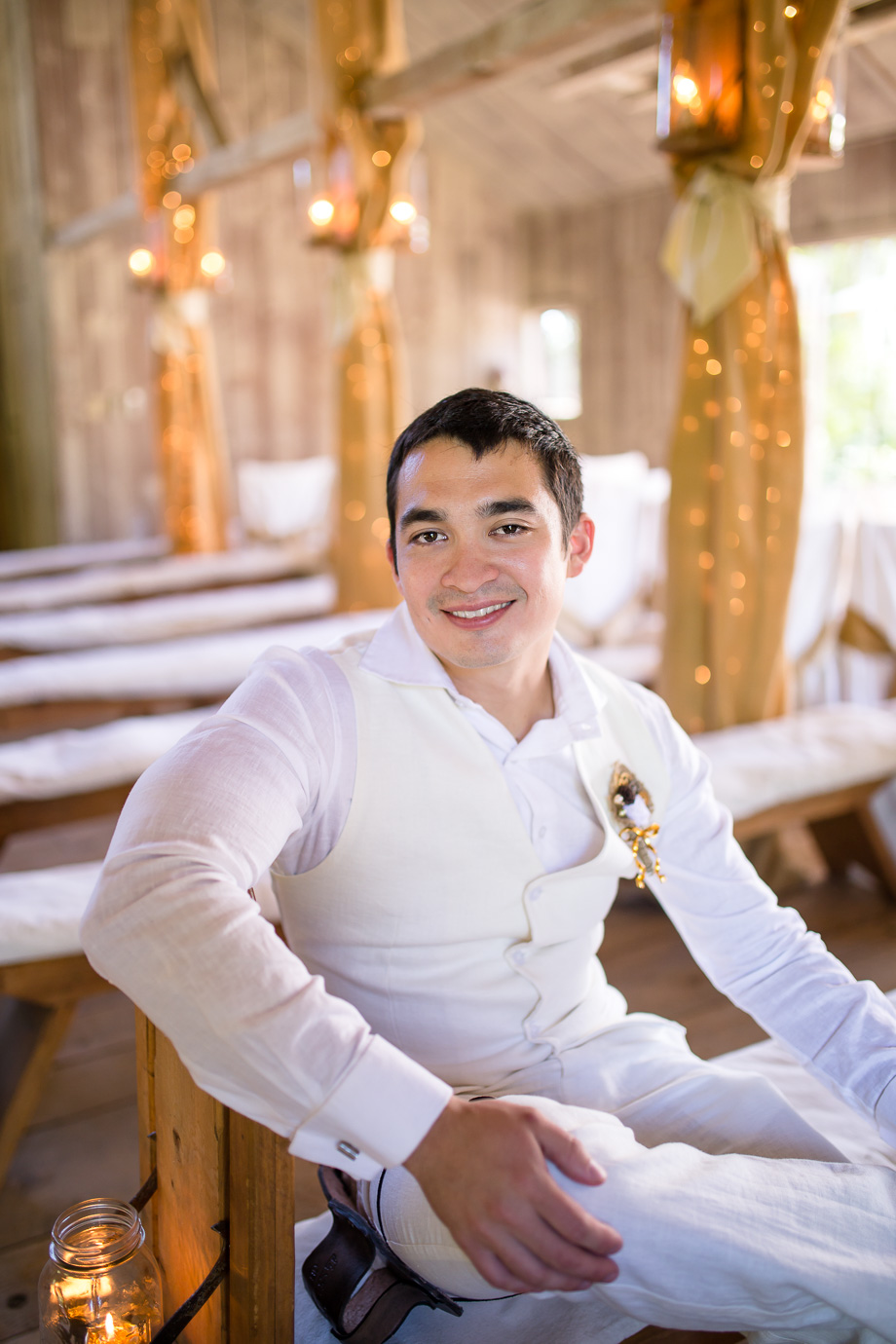 groom portrait in the chapel
