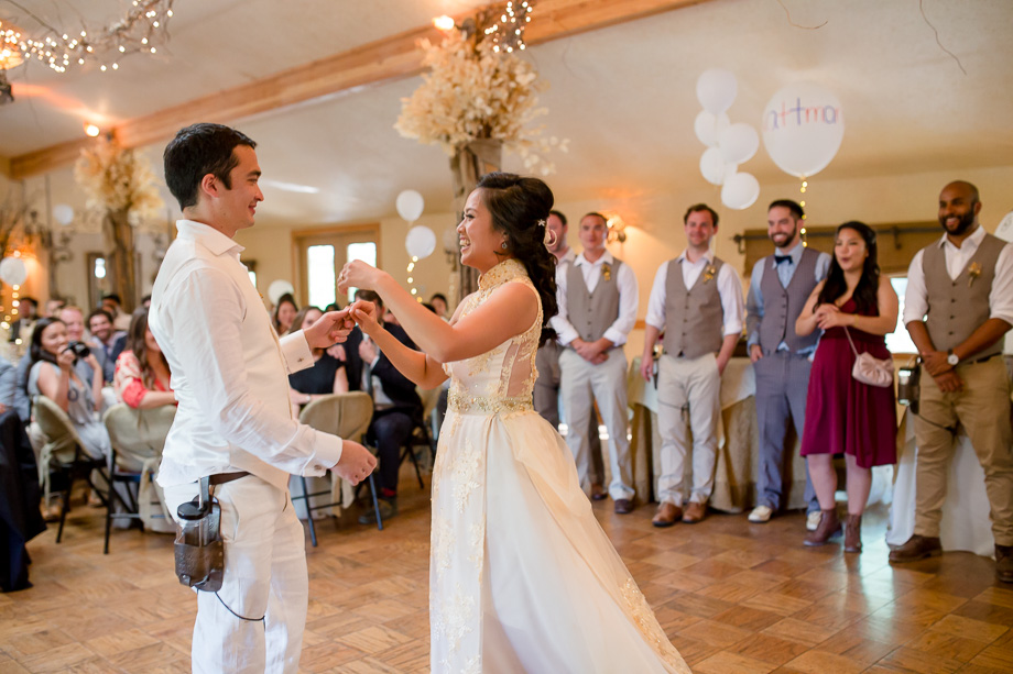 a swirl during the first dance