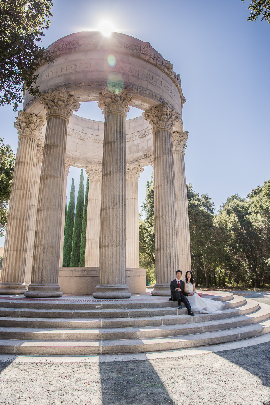 romantic Pulgas Water temple wedding in Redwood City