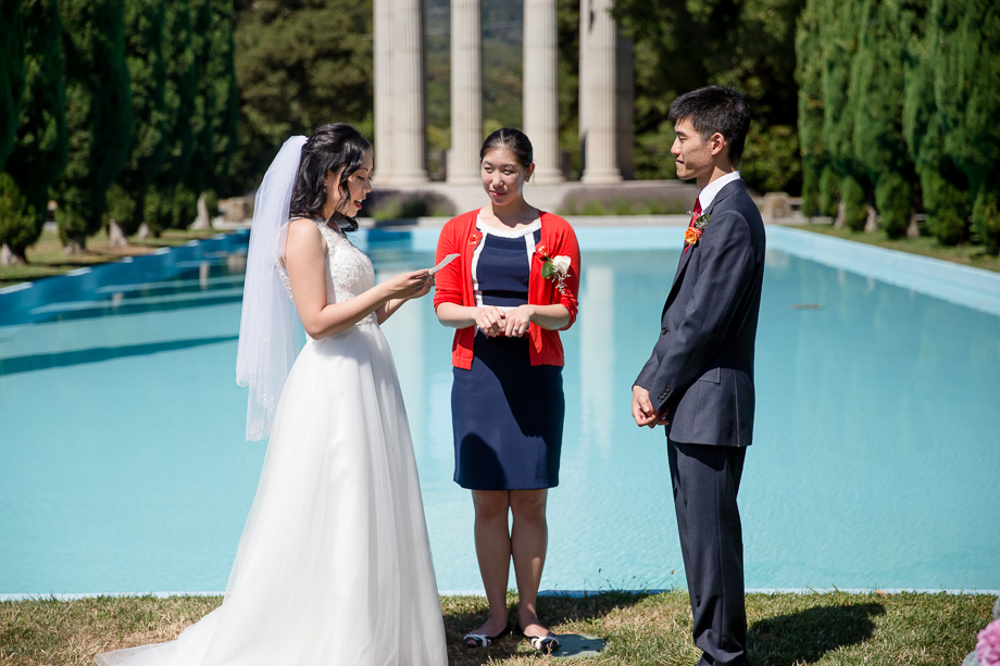 vow exchange in front of the water temple