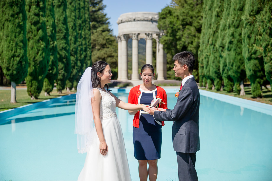 ring exchange in front of the pulgas water temple