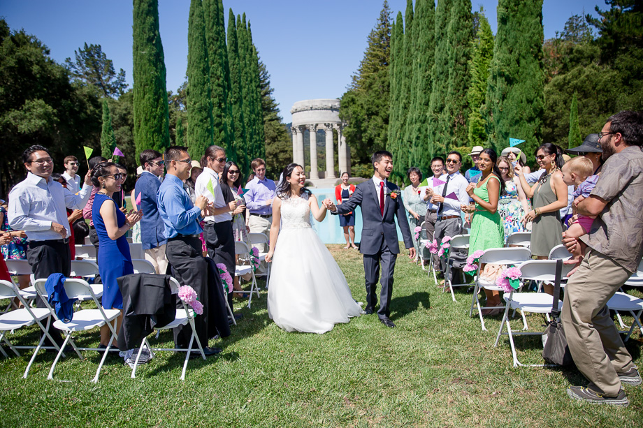 a happy recessional at pulgas temple