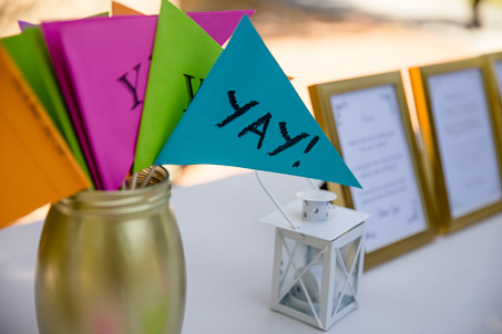 DIY YAY flags for ceremony guests