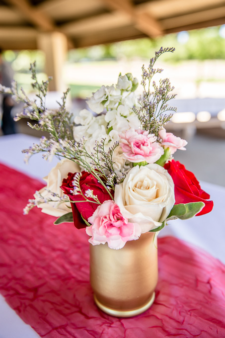gorgeous DIY centerpiece for a causal BBQ reception