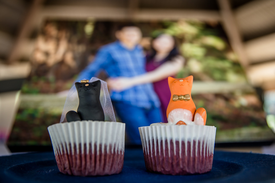 cutest wedding cupcakes for couples who love cats