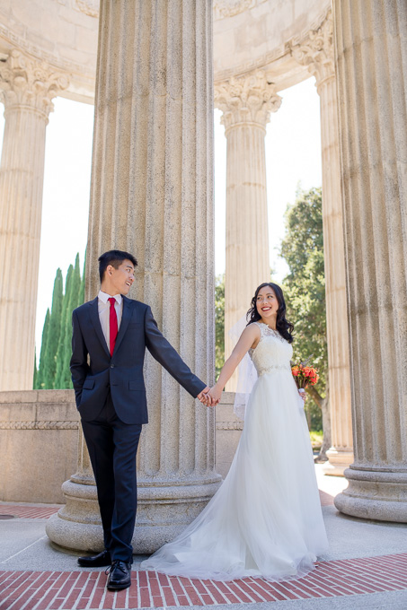 Pulgas water temple wedding ceremony