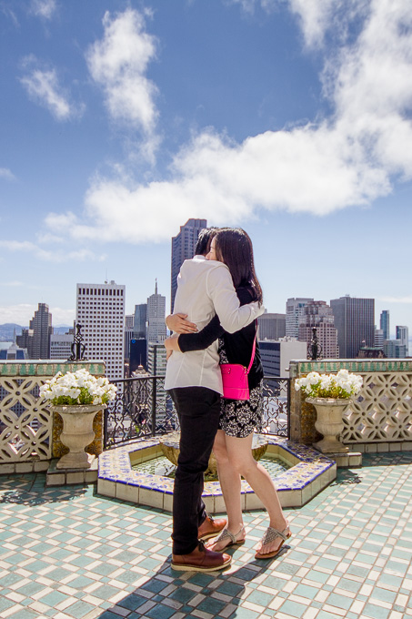 stunning view of San Francisco for this suprise engagement