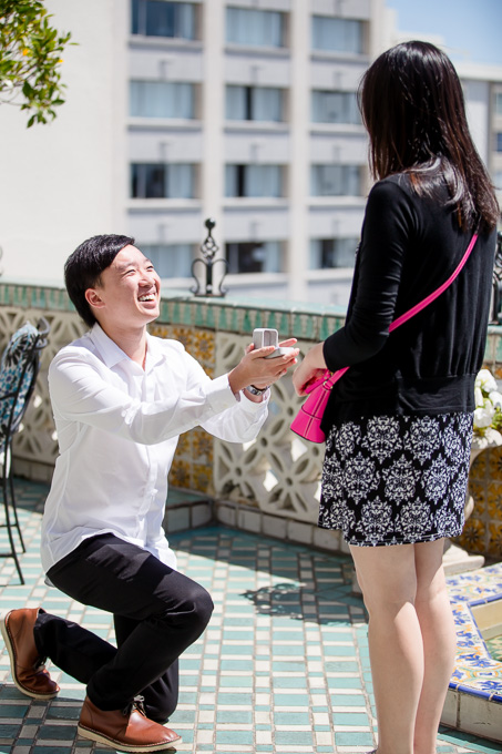 SF hotel surprise proposal