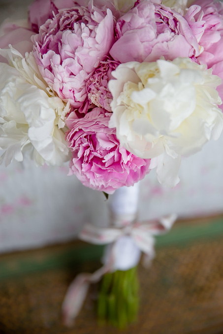 stunning peony bridal bouquet pink and cream