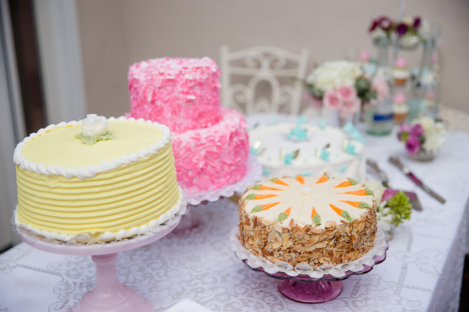 beautiful homemade colorful wedding cakes