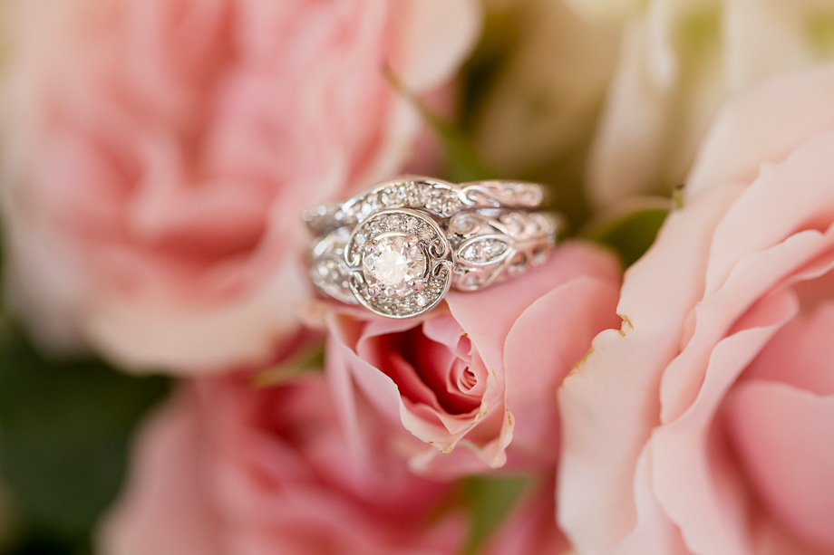 macro photo of diamond ring set crafted by grooms father