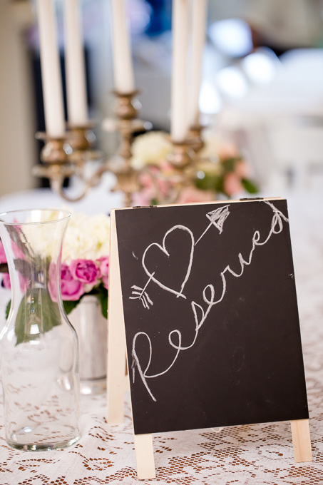 DIY reserved seating sign
