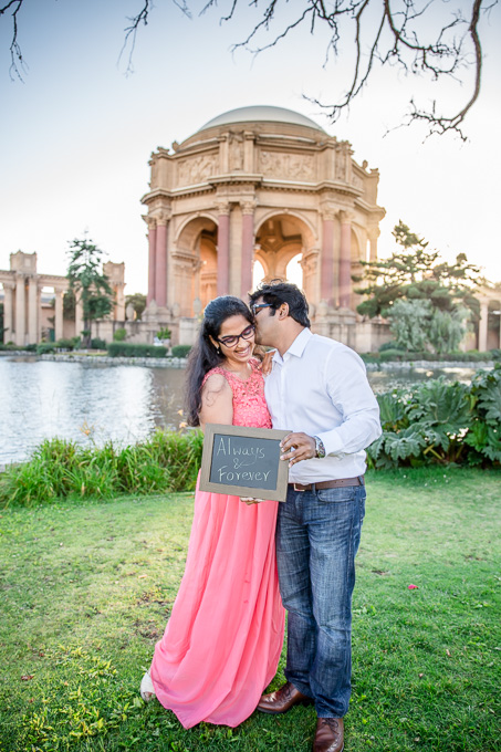 romantic San Francisco engagement photo - always and forever