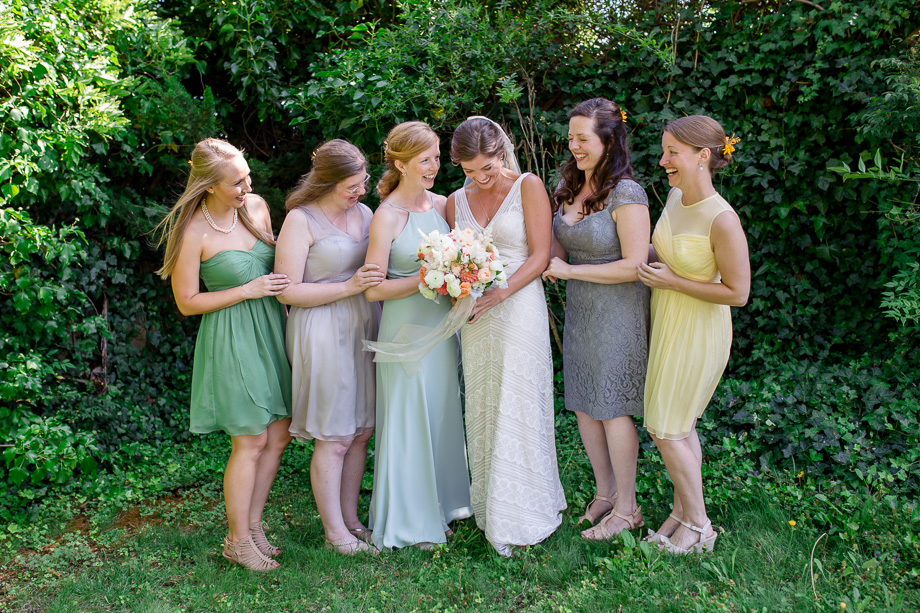 pastel color chiffon bridesmaid dresses