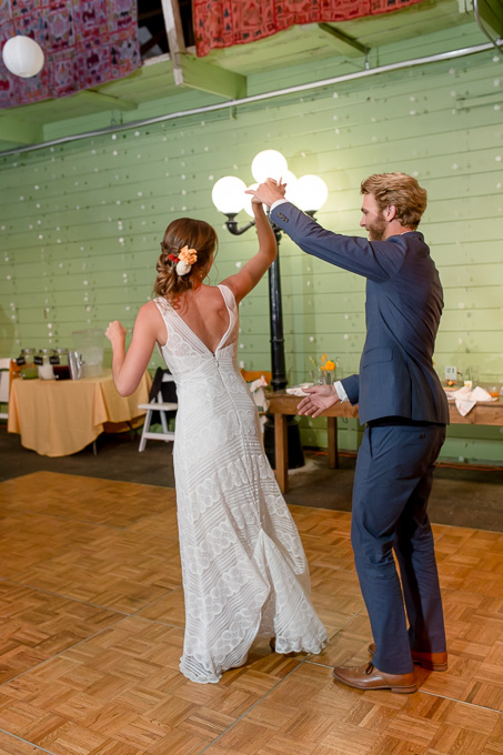 twirling during their first dance