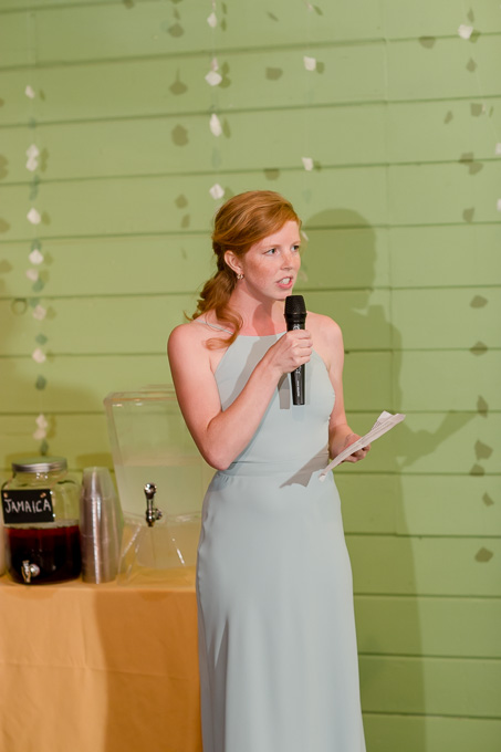 maid of honor giving a speech