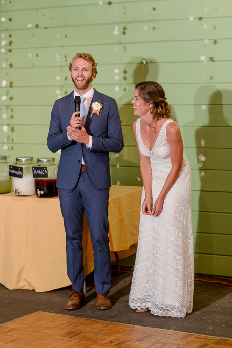 groom giving a speech