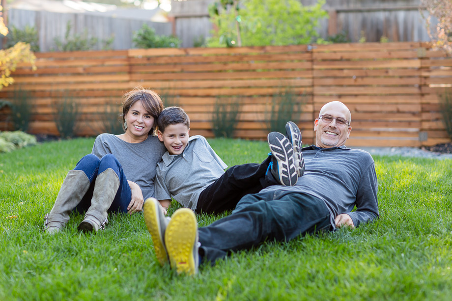 backyard family photo at Los Altos private residence