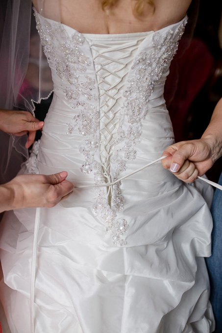 lace up the wedding gown
