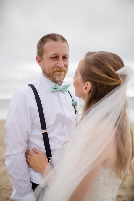 HMB beach wedding picture