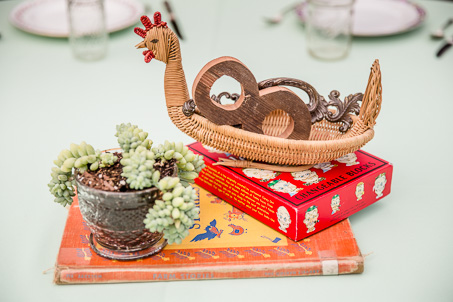 DIY vintage and rustic centerpiece