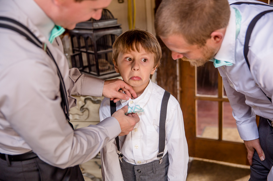 a funny photo of the ring bearer
