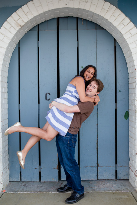cute Lake Merritt engagement photo