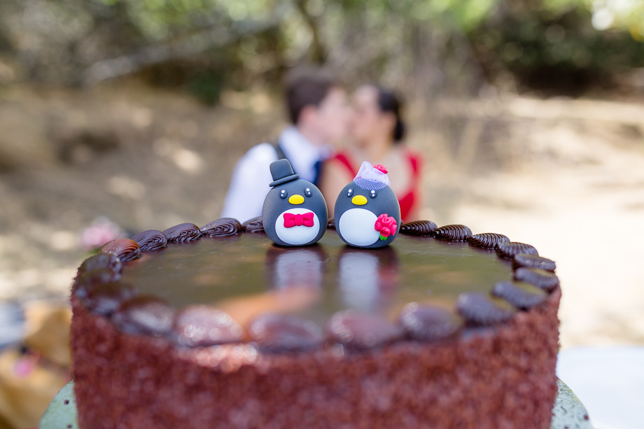 super cute penguin wedding cake toppers