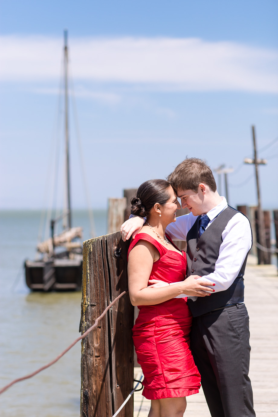 a sunny beach wedding at China Camp State Park in San Rafael