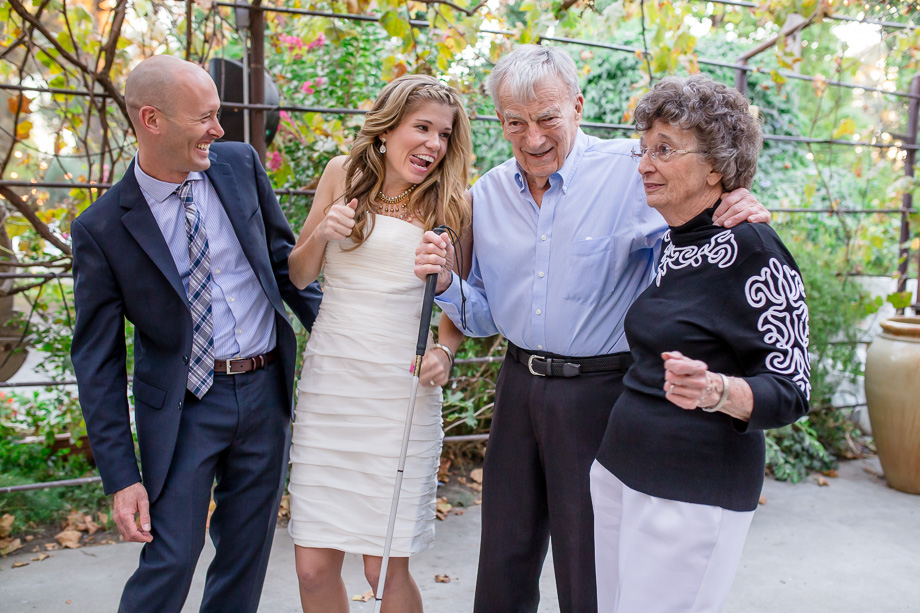 cute and goofy family photo at a wedding