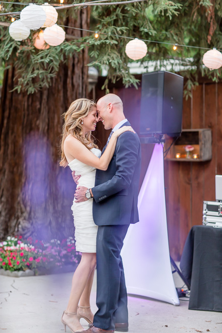 gorgeous first dance photo out in the open - san jose coyote ranch real wedding