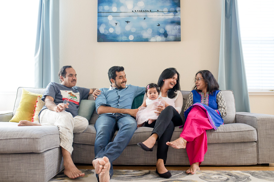 a candid moment of the sweet family - bay area lifestyle family photographer