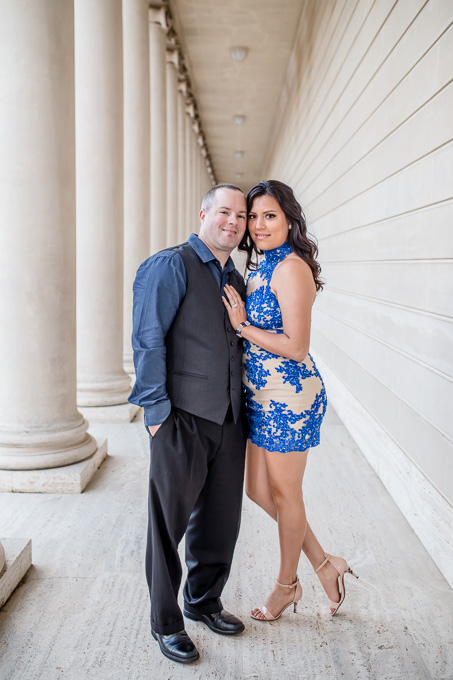 engagement photo at the columns of Legion of Honor