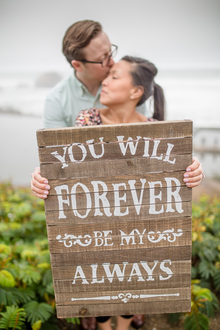 cute wooden sign for save the date photos - san francisco engagement photographer