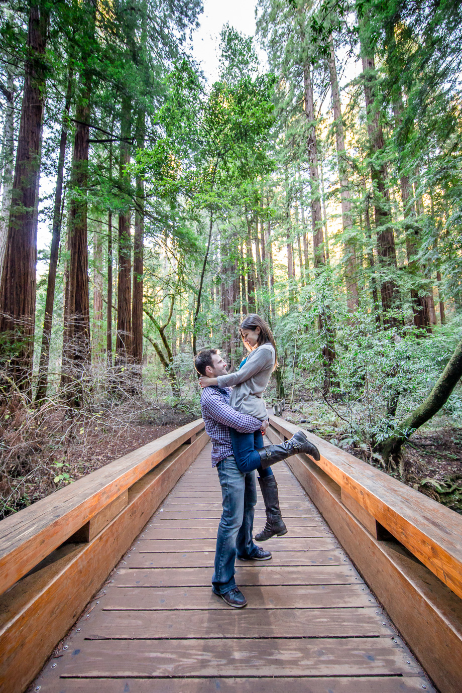 muir woods engagement photo