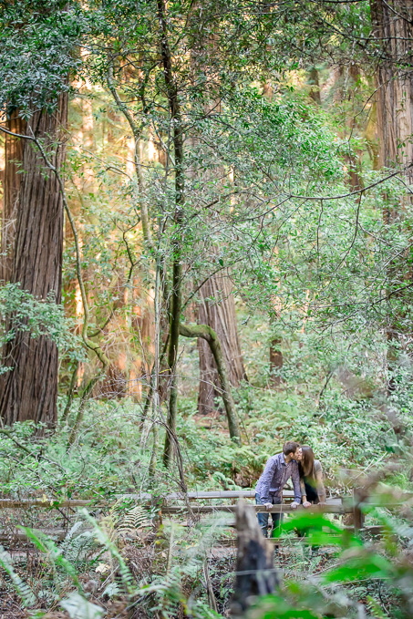 romantic muir woods engagement photo