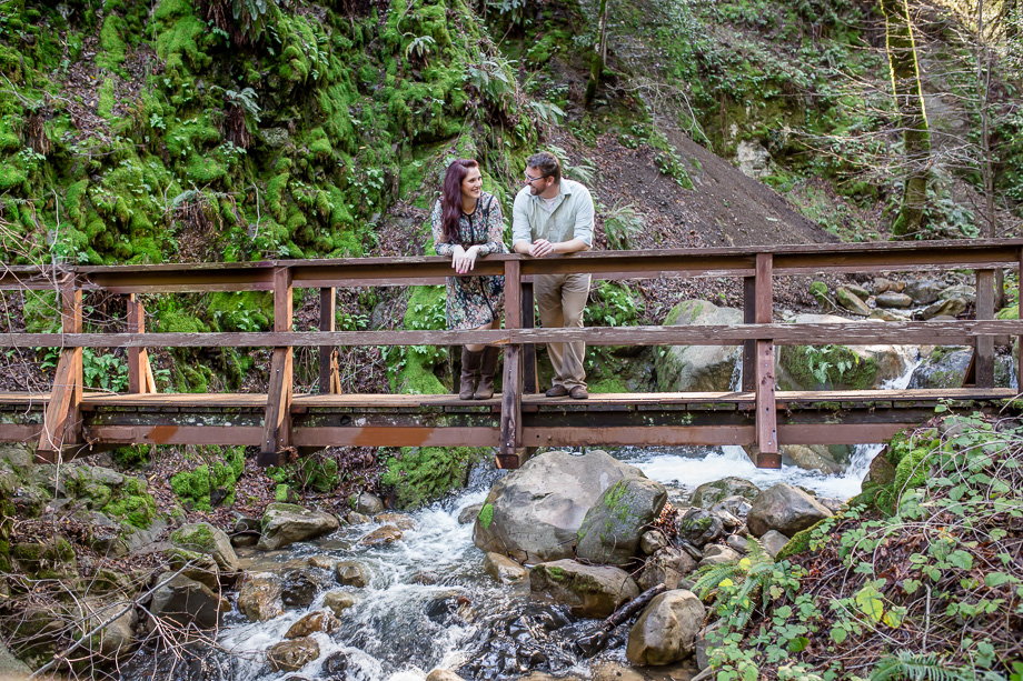 engagement photo idea on bridge above rapids