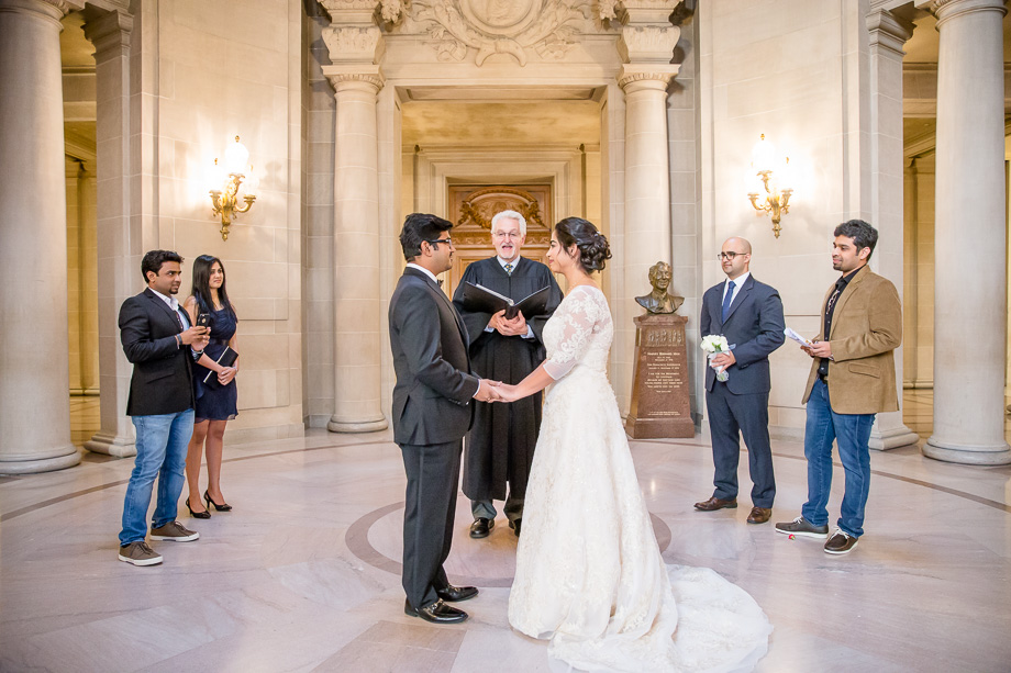 San Francisco City Hall Small Intimate Wedding Ceremony