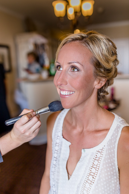 bride geting ready at the Oceano Hotel and Spa