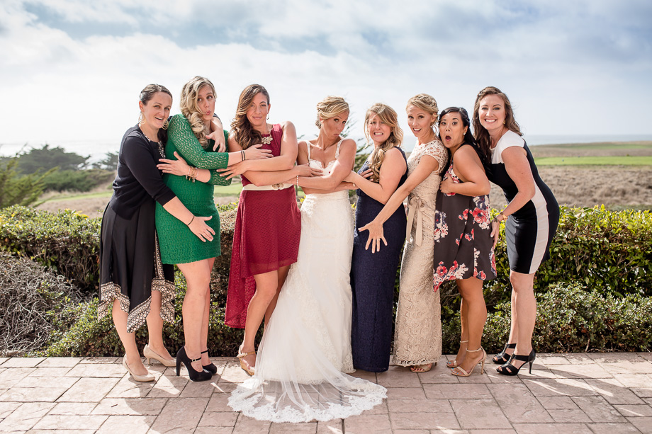 funny and cute bridal party photo