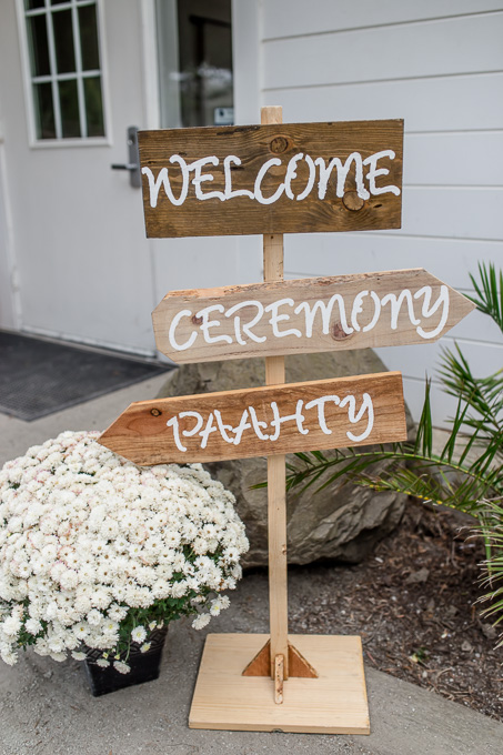 wedding sign idea - welcome, ceremony, paahty