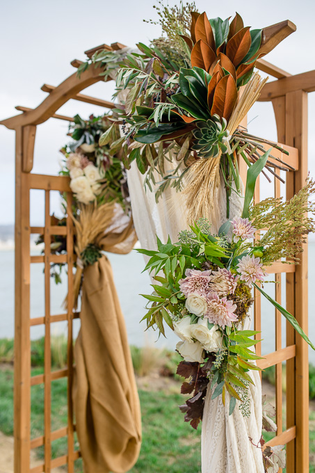 gorgeous floral decoration of the wedding arch