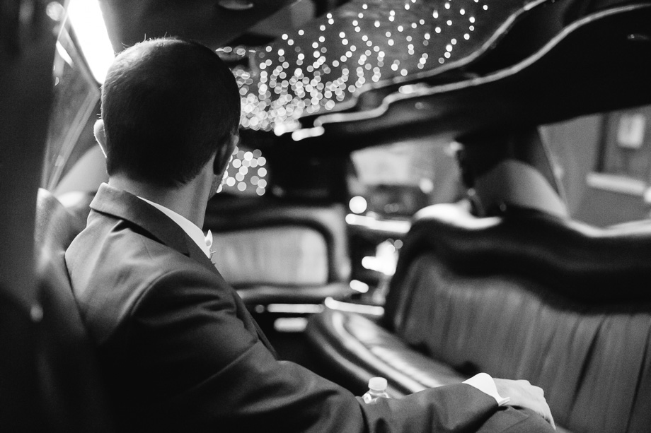 groom in his limo to San Francisco city hall